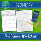 Volume of Cylinders, Cones and Spheres Worksheets