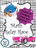 Volume of Cylinder, Cones and Spheres Relay Races