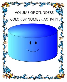 Volume of Cylinders Coloring Activity. 8.G.C.9