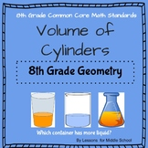 8th Grade Geometry - Volume of Cylinders