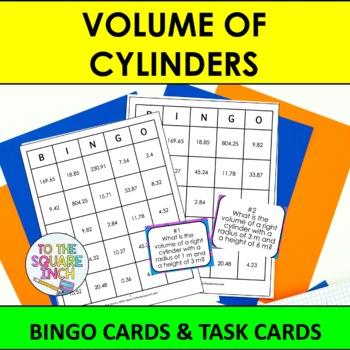 Volume of Cylinders Bingo