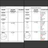 Volume of Cylinders, Cones, Spheres Bundle- Interactive Notebook, Quiz, & Games