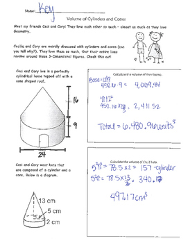 Volume of Cylinders, Cones, Spheres Problem Solving