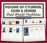 Volume of Cylinders, Cones & Spheres: Real-Life Problems (Compose figure).