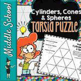 Volume of Cylinders, Cones, & Spheres Tarsia Puzzle