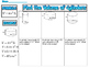 Volume of Cylinders Cones and Spheres Guided Worksheets