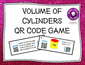 Volume of Cylinders Game