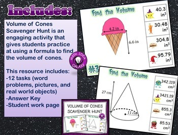 Volume of Cylinders Cones and Spheres Activities and Games