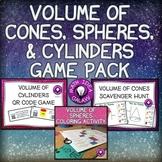 Volume of Cylinders Cones and Spheres Activity Bundle