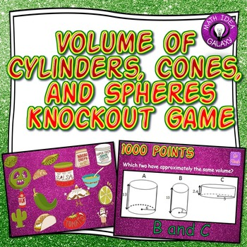 Volume of Cylinders Cones and Spheres Activity: Knockout Game