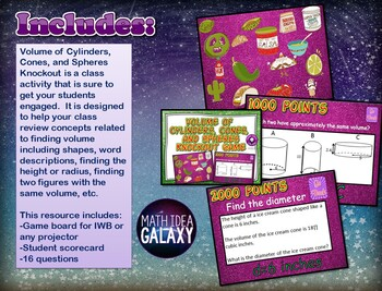 Volume of Cylinders Cones and Spheres Activities, Games, and Resources Bundle