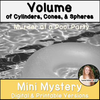 Volume of Cylinders, Cones, and Spheres Activity! Mini Mystery!