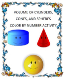 Volume of Cylinders, Cones, and Spheres Color by Number (8.G.C.9)