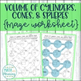Volume of Cylinders, Cones, and Spheres Maze Worksheet - CCSS 8.G.C.9