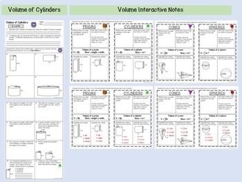 Volume of Cylinders, Cones and Spheres Bundle