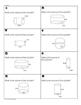 volume of cylinders cones and spheres sum 39 em activity by mrs e teaches math. Black Bedroom Furniture Sets. Home Design Ideas