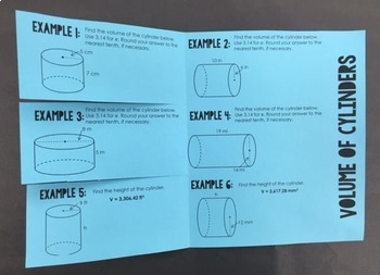 Volume of Cylinders (Foldable)