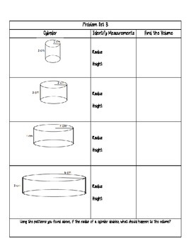 Volume of Cylinders Investigation