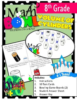 Volume of Cylinders Math Bowl Activity