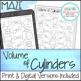 Volume of Cylinders Worksheet - Maze Activity