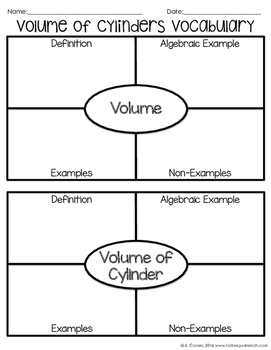 Volume of Cylinders Notes