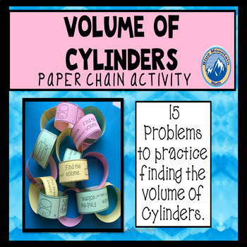 Volume of Cylinders Paper Chain Activity