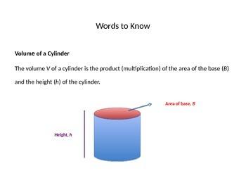 Volume of Cylinders Presentation