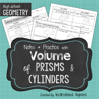 Volume of Cylinders & Prisms: Notes & Practice