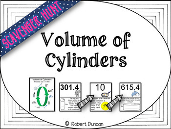 Volume of Cylinders Scavenger Hunt & Exit Tickets