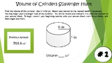 Volume of Cylinders Scavenger Hunt