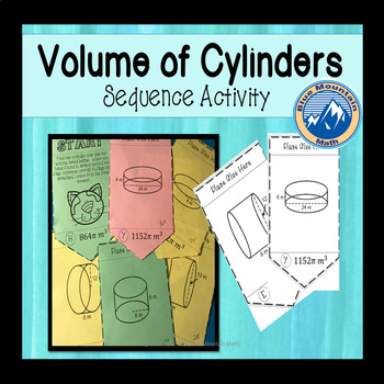 Volume of Cylinders Sequence Activity