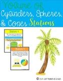 Volume of Cylinders, Spheres, & Cones {Stations}