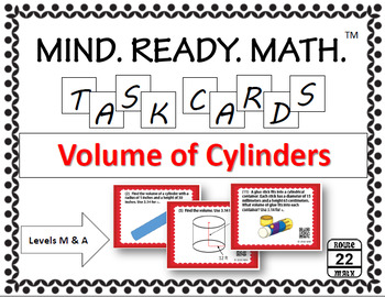 Volume of Cylinders Task Cards