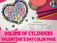 Volume of Cylinders Valentine's Day Color Page