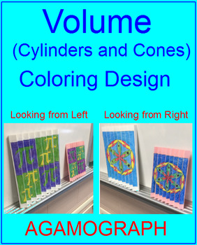 VOLUME: CYLINDERS AND CONES - COLORING (AGAMOGRAPH)