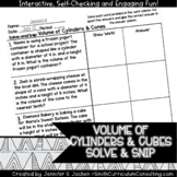 Volume of Cylinders and Cones Word Problems |  Solve and S