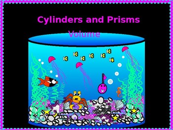 Power-point:  Volume of Cylinders and Prisms with GUIDED NOTES