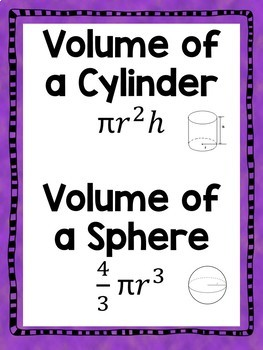 Volume of Cylinders and Spheres