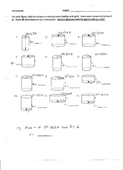 Volume of Cylinders or Missing Factors