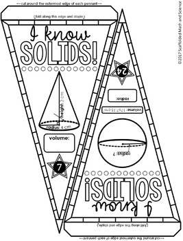 Volume of Geometric Solids Pennant