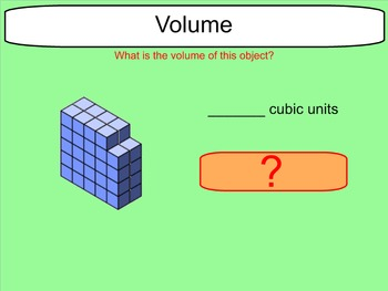 Volume of Irregular Figures (figures made from unit cubes)