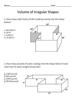 Volume of Irregular Shapes