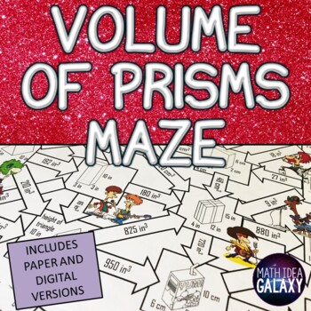Volume of Prisms Activity
