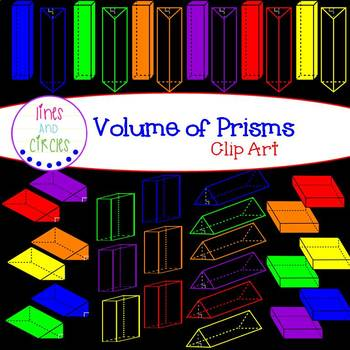 Volume of Prisms Clip Art