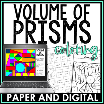 Volume Of Prisms Coloring Activity By Jessica Barnett Tpt