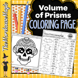 Volume of Prisms Math Color By Number or Quiz