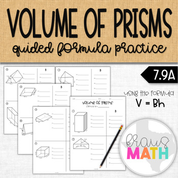 Volume of Prisms: Guided Notes & Practice