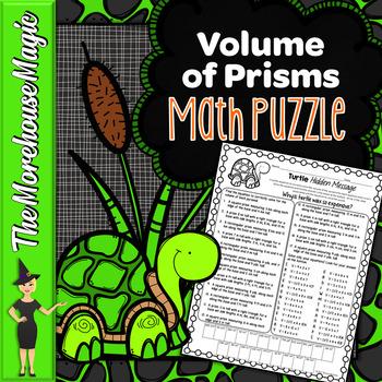 Volume of Prisms Math Puzzle - Turtles!