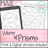 Volume of Prisms Worksheet - Maze Activity