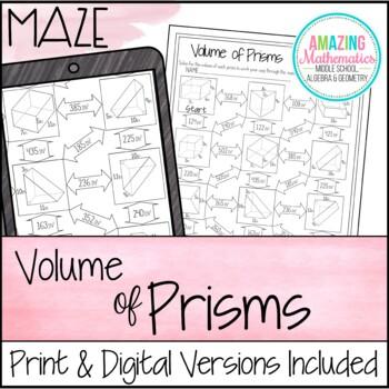 Volume of Prisms Maze